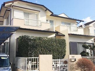 外壁・屋根リフォーム 外装を一新。キレイが長持ちする塗装と断熱性の高い玄関ドアで年中快適に過ごせる家