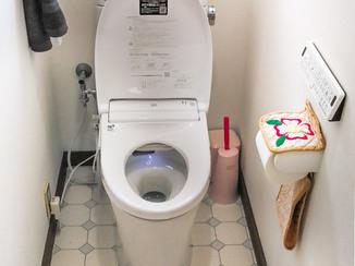 トイレリフォーム 高性能な便座がついた、明るく使いやすいトイレ